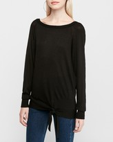 Express Side Tie Tunic Sweater