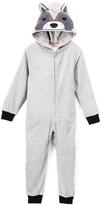 Komar Kids Gray & Black Raccoon Hooded Pajamas - Boys
