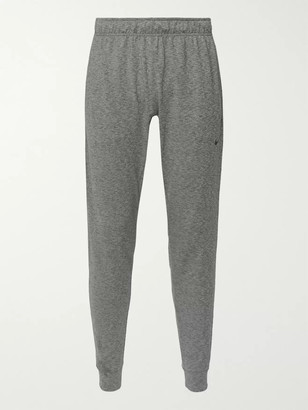 Tapered Space-Dyed Dri-Fit Stretch-Jersey Yoga Sweatpants