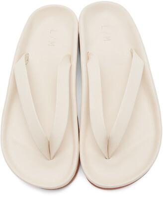 LAUREN MANOOGIAN Off-White Zori Sandals