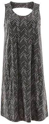 Aventura Clothing Carrick Print Dress (Black) Women's Dress