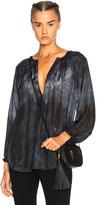 Raquel Allegra Windsor Blouse in Black,Blue,Ombre & Tie Dye.