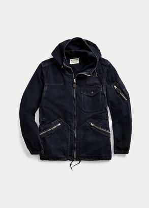 Ralph Lauren Indigo Hooded Flight Jacket