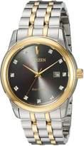 Citizen Men's 'PAIRS' Quartz Stainless Steel Casual Watch, Color:Two Tone (Model: BM7344-54E)