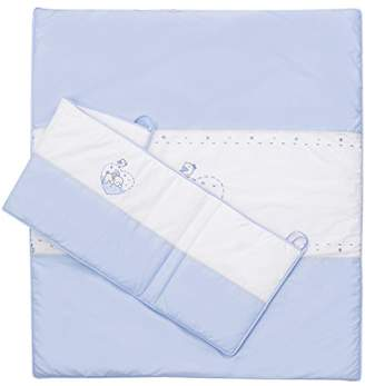 Baby Elegance Cot Quilt and Bumper (Blue)