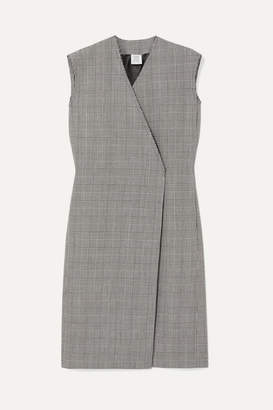 Vetements Frayed Prince Of Wales Checked Wool Vest - Gray