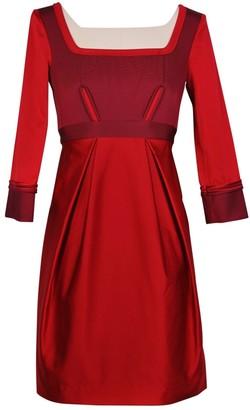 Zac Posen Red Silk Dresses