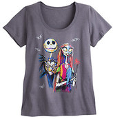 Disney Jack Skellington and Sally Scoop Neck Tee for Women - Plus Size