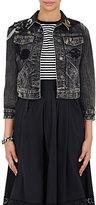 Marc Jacobs Women's Embellished Denim Jacket-BLACK