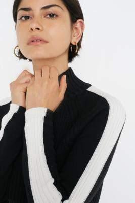 Urban Outfitters Colourblock Half-Zip Jumper - black XS at