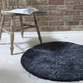 Lime Tree London Round Grey Curly Sheepskin Rug In Three Sizes