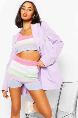 boohoo Pastel Stripe Knit Crop Top