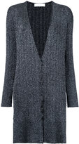 Le Ciel Bleu long button cardigan - women - Polyester/Rayon - 36
