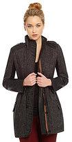 Sam Edelman Tweed Anorak Stand-Collar Coat