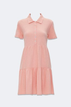 Forever 21 Tiered Polo Shirt Dress