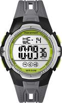 Timex TW5M067009J Men's Marathon Quartz Wrist Watch, Grey Leather Strap