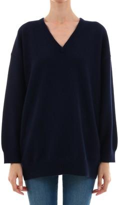 Balenciaga Logo V-Neck Pullover