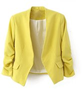 Ninimour- Korea Style Women's Blazer Jacket Suit Work Casual (M, )