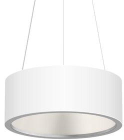 Sonneman Tromme 1 - Light Unique / Statement Drum LED Pendant Finish: Satin White