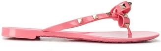 Valentino Rockstud bow flip flops