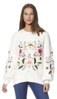 F&F Floral Embroidered Balloon Sleeve Jumper