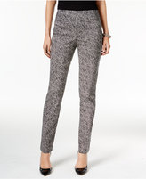 JM Collection Printed Pull-On Pants, Only at Macy's