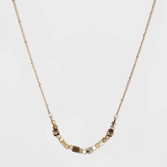 Universal Thread Semi-Precious Brown Lip Shell &Tiger Eye Jasper Beaded Necklace - Universal ThreadTM Brown