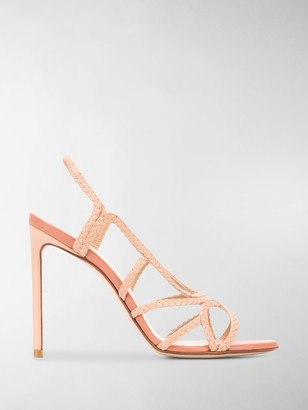 Francesco Russo Braided 110mm Open-Toe Sandals