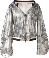 Aviu floral print zip up jacket - women - Cotton/Polyamide/Polyester/Spandex/Elastane - 40