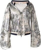 Aviu floral print zip up jacket
