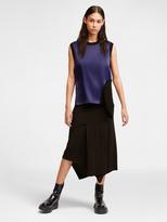 DKNY Layered Jersey Skirt