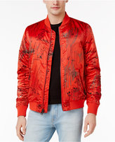 GUESS Men's Alpine Graffiti Bomber Jacket
