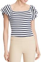 Lauren Ralph Lauren Stripe Off-The-Shoulder Ruffle Top