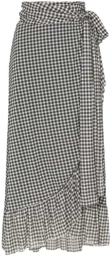 6c07007c Black Gingham Skirt - ShopStyle