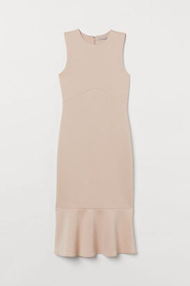 H&M Fitted Dress - Beige