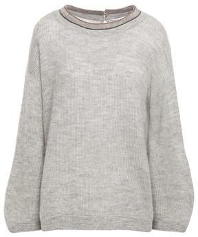 Brunello Cucinelli Bead-embellished Melange Knitted Sweater
