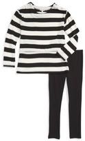 Splendid Toddler Girl's Stripe Blouson Top & Leggings Set