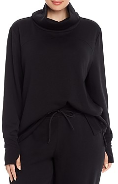 Marc New York Plus Marc New York Performance Plus Terry Fleece Funnel Neck Tunic