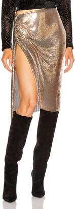 Paco Rabanne Mesh Skirt in Gold | FWRD