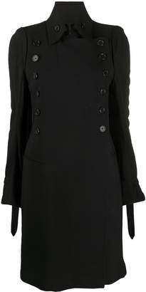 Ann Demeulemeester Double-Breasted Buttoned Up Coat