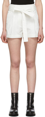 3.1 Phillip Lim White Belted High-Waist Shorts
