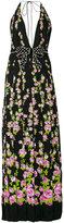 Gucci halter floral print maxi dress