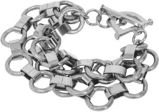 Lovard Triple Chain Bracelet -Silver