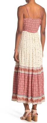 Angie Peek-a-Boo Tiered Maxi Dress