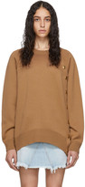 Givenchy Brown Wool Oversized Button Crewneck