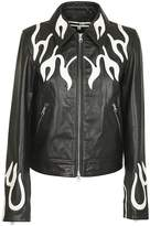 McQ Printed Leather Jacket
