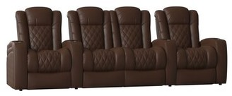 Red Barrel Studioâ® Continental Series Home Theater Row Seating (Row of 4) Red Barrel StudioA Body Fabric: Luxe Berry