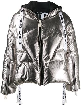 KHRISJOY Metallic Puffer Jacket