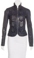 L.A.M.B. Stand Collar Leather Jacket