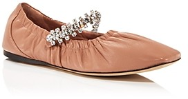 Jimmy Choo Women's Gai Crystal Embellished Ballerina Flats
